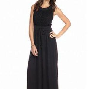 New black maxi dress crochet Petite Medium